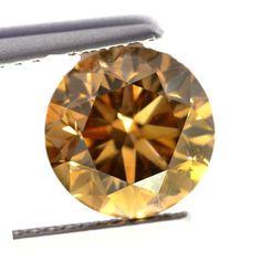 0.72 Carat Brown Loose Diamond Natural Color Round Cut Diamond