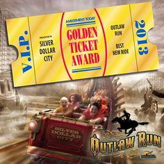 #OutlawRun at #Silverdollarcity wins Best New Ride of 2013, a world wide honor! Branson, MO
