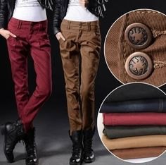 Womens Lady Military Army Overall Cargo Pocket Pants Leisure Harem Trousers