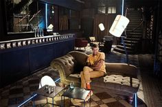 #Stromae sur le plateau de l'émission Alcaline. Luminaires de la collection Diesel with Foscarini : http://www.madeindesign.com/b-diesel-with-foscarini.html