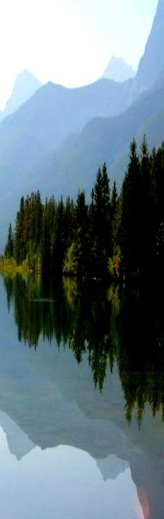Canmore Reservoir in Alberta, Canada