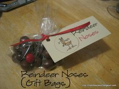 Reindeer Noses (Gift Bags)