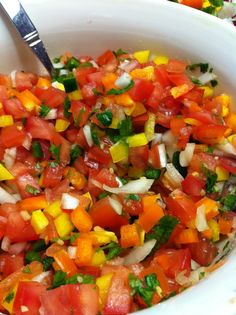 Homemade Salsa, via Pushing Twigs