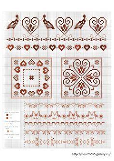 Gallery.ru / Фото #49 - 91 - Fleur55555 Cross Stitch Boarders, Cross Stitch Love, Cross Stitch Flowers, Cross Stitch Patterns, Blackwork Embroidery, Diy Embroidery, Fair Isle Chart, Diy Broderie, Crochet Borders