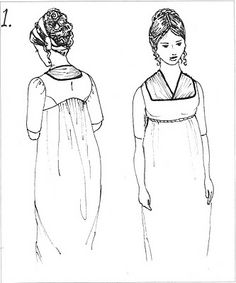 All about Regency Fichus/neckline enhancements.The Fichu is a perfect example of how the simple act of filling a neckline became a sort of competition of creativity, starting with the thickly ruched necklines of the early Regency to the froo-froo ruffled collars of the late Regency.  They are really indispensable necessities for any regency wardrobe, and lend a touch of authenticity that wearing just wearing a gown cannot achieve.