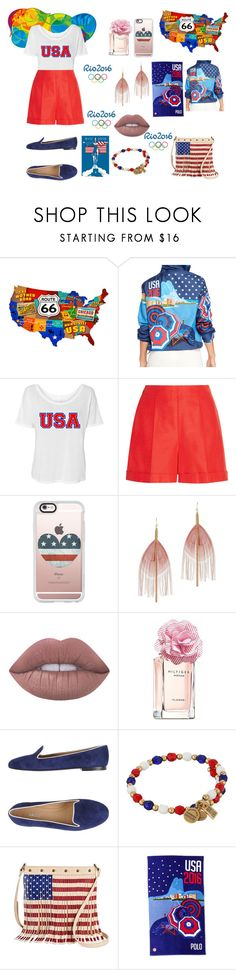 """Team USA"" by bainsey1 on Polyvore featuring Ralph Lauren, Oscar de la Renta, Casetify, Serefina, Lime Crime, Tommy Hilfiger, Bally, Alex and Ani, TWIG & ARROW and Polo Ralph Lauren"