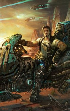 #JimRaynor #ConceptArt from #Starcraft2 by #WeiWang