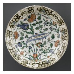 Plat à la palme festonnée - Musée national de la Renaissance (Ecouen)
