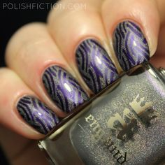 Nail stamping with A England Jane Morris