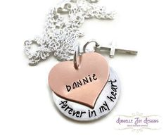 Hand Stamped Personalized In Memory Of by DanielleJoyDesigns