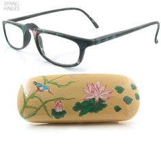 407c5b64183  11.95 hand painted reader and hard shell hand painted case all for the low  priceof 11.95 Hummingbird Women s reading glasses