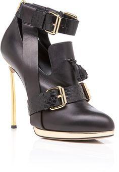 Prabal Gurung Black High Heel Oxford - Lyst