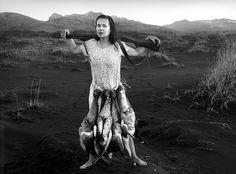 Self Portrait with my Belt. Silver Gelatin Print. Heradssandur, Iceland. 2011. © Agnieszka Sosnowska