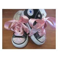 Cute baby girl Chuckies!!  Great now I'm gonna have to do this for friends having a baby girl!  Chucks are my signature gift!