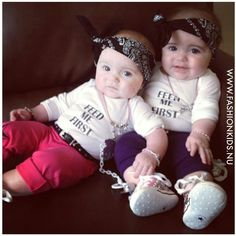 If I have twin girls , I will dress them like this at least once (: