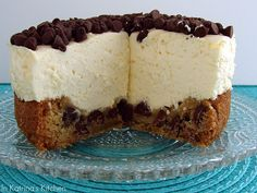 chocolate chip cookie cheesecake...   I can't stand it how good this looks!