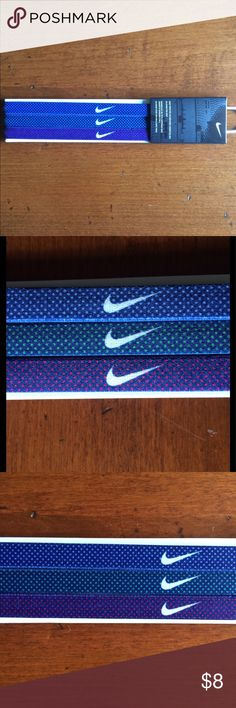 🆕 LISTING Nike headbands unisex NWT Nike 3 pack of headbands. These are unisex. Nike Accessories Hair Accessories