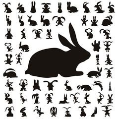 Image detail for -Cute Bunny or Rabbit Vector Silhouette free vector bunnies design for ...