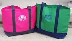 Preppy Color Blocked Tote  Monogram gifts for by personalthreads