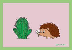 Porcupine + Cactus = Love by Federico Monzani
