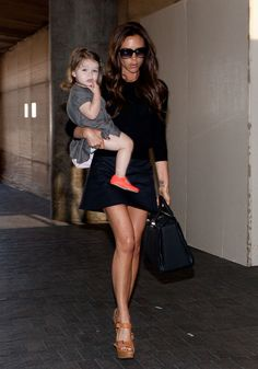 Victoria Beckham and Harper Beckham - super stylish