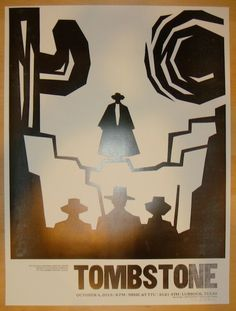 "2013 ""Tombstone"" - Silkscreen Movie Poster by Dirk Fowler"