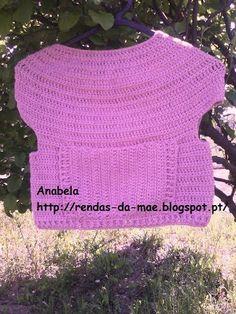 Rendas da Mãe: Túnica /Agasalho de algodão para menina