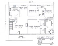 40x60 shop with living quarters floor plans pole barn for Garage square foot cost