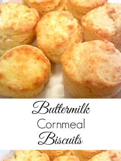 Buttermilk Cornmeal Biscuits with Honey Butter - Perfect for breakfast sandwiches as a base for biscuits and gravy or a snack slathered with honey butter Get the recipe on Cornmeal Biscuits Recipe, Cornmeal Recipes, Buttermilk Cornbread, Biscuits And Gravy, Homemade Biscuits, Bread Recipes, Baking Recipes, Fluffy Biscuits, Recipe For Buttermilk Biscuits
