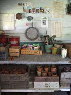 Potting shed. If I had a place where I could garden...I would have one of these.