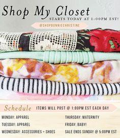 » #shopmycloset sale on instagram