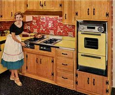 Birch Cabinets, Kitchen Cabinets, Kitchen Pantry, Kitchen Appliances, Vintage Appliances, Kitchen Counters, Knotty Pine Kitchen, Countertop Makeover, Cabinet Makeover