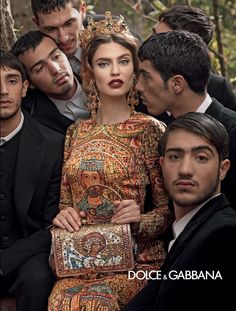 Italian Drama – For its fall 2013 campaign Dolce & Gabbana enlists reoccurring faces Bianca Balti, Monica Bellucci and Kate King as well as a new addition–Romanian model Andreea Diaconu. The woman serve up some high drama in the images lensed by designer Domenico Dolce where scandal occurs with emotive facial expressions to match. Clothing for autumn features the Italian label's signature lacework as well as prints with religious figures.