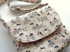 Little girl satchel by angharad handmade, via Flickr