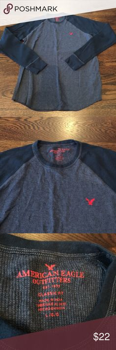 NWOT AEO Thermal Shirt Classic fit style. Never worn. American Eagle Outfitters Shirts Tees - Long Sleeve