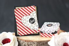 Design a matching card and gift box for your loved one this Valentines Day.  Created using Top Dog Dies Madison Doily Die.