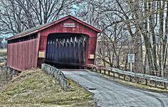 Parker Covered Bridge   On TR40 (Crane Rd.), Upper Sandusky   Wyandot County, Ohio   Truss Type: Howe   35-88-03   172 feet long built in 1873