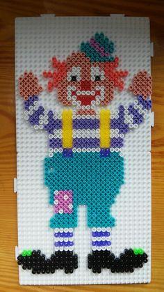 Clown hama beads
