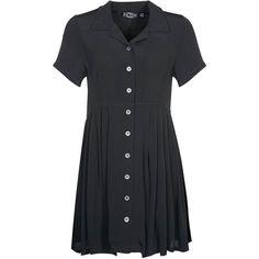 Evil Twin BAD HABIT Dress ($94) ❤ liked on Polyvore featuring dresses, black, pattern dress, mixed print dress, button dress, evil twin and mid length dresses