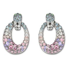 Rarely Rainbow Pastel Clip Earrings From Swarovski