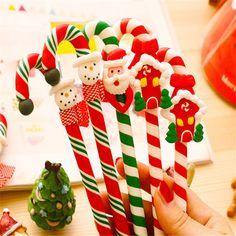 Presente de natal Criativo Natal Brinquedo Engraçado Caneta Estudantes Caneta Esferográfica Presente Dos Desenhos Animados Do Bebê Dos Miúdos Brinquedo em Ornamentos bola de Home & Garden no AliExpress.com | Alibaba Group