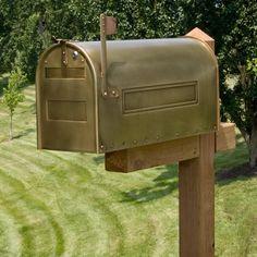 Stevenson Locking Post Mount Br Mailbox