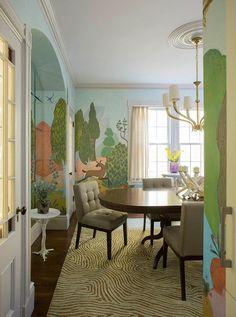 Modern Interior Design with Fresco Wall Murals Inspired by Venetian ...