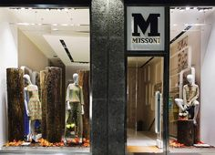 """MISSONI, Via Montenapoleone, Milan, Italy, """"And the shadows of tree trunks and shadows of leaves interlace with low voices and footsteps and sunlight to divide us forever"""", photo by The Fashion Display, pinned by Ton van der Veer"""