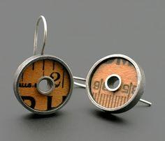 kristi zevenbergen jewelry | Ruler earrings. Kristi Zevenbergen | Jewelry & Metalsmithing Ideas