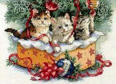 Stickerei-Spiel mit Weihnachtsschmuck (Größe)