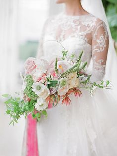 The Best Blooms for a Whimsical Cascading Bouquet | TheKnot.com