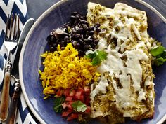 Tyler's 5-star Chicken Enchiladas with Roasted Tomatillo Chile Salsa