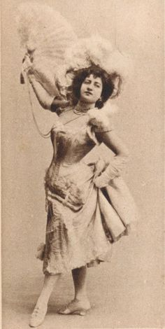 """Lottie Collins (1865-1910) - English singer and dancer, most famous for introducing the song """"Ta-ra-ra Boom-de-ay!"""" in England."""