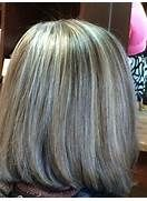 Grey hair hilight blend | My work | Pinterest | Gray hair ...